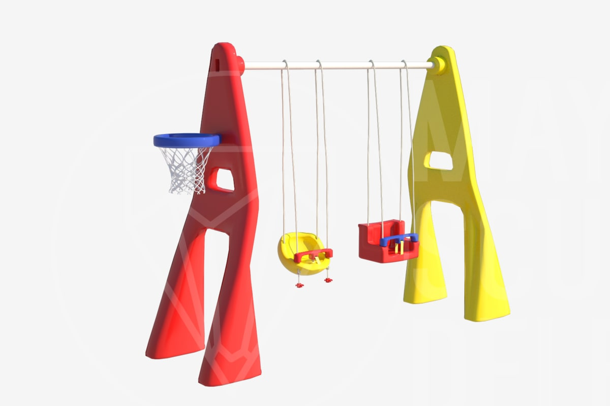 3d model plastic playground