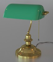 3d model classical green lamp