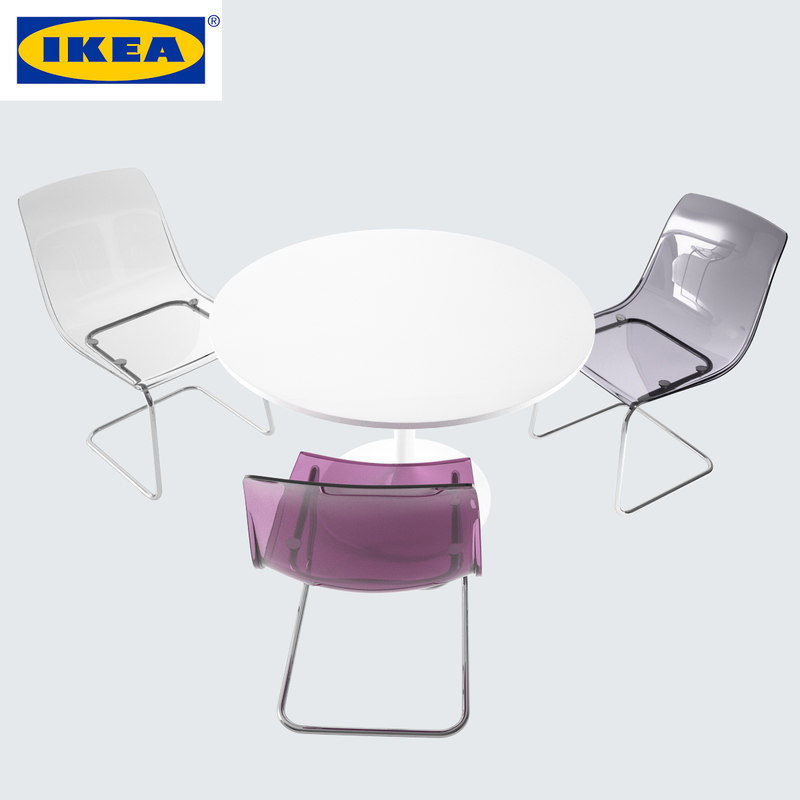ikea chair tobias table 3d model