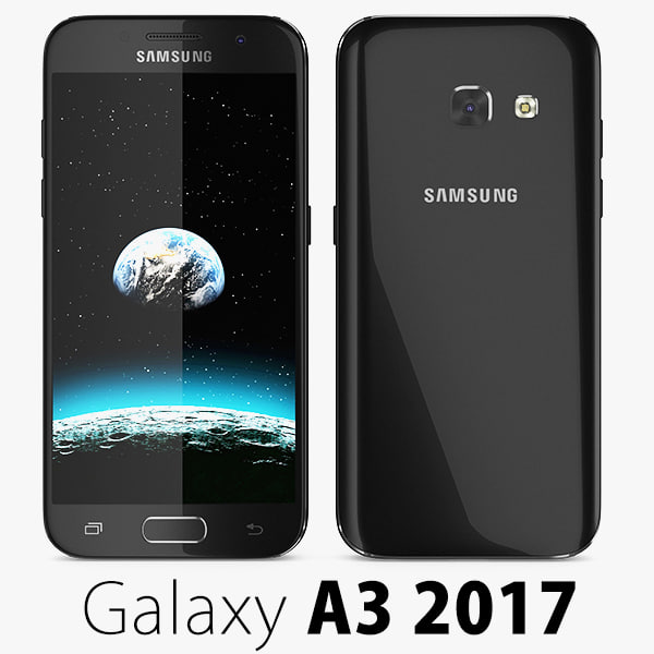 3d samsung galaxy a3 2017 model. Black Bedroom Furniture Sets. Home Design Ideas