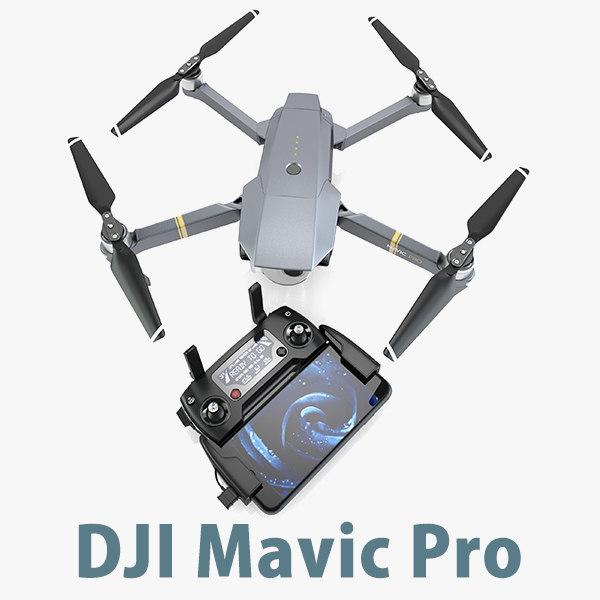 3 mavic pro controller 3d model