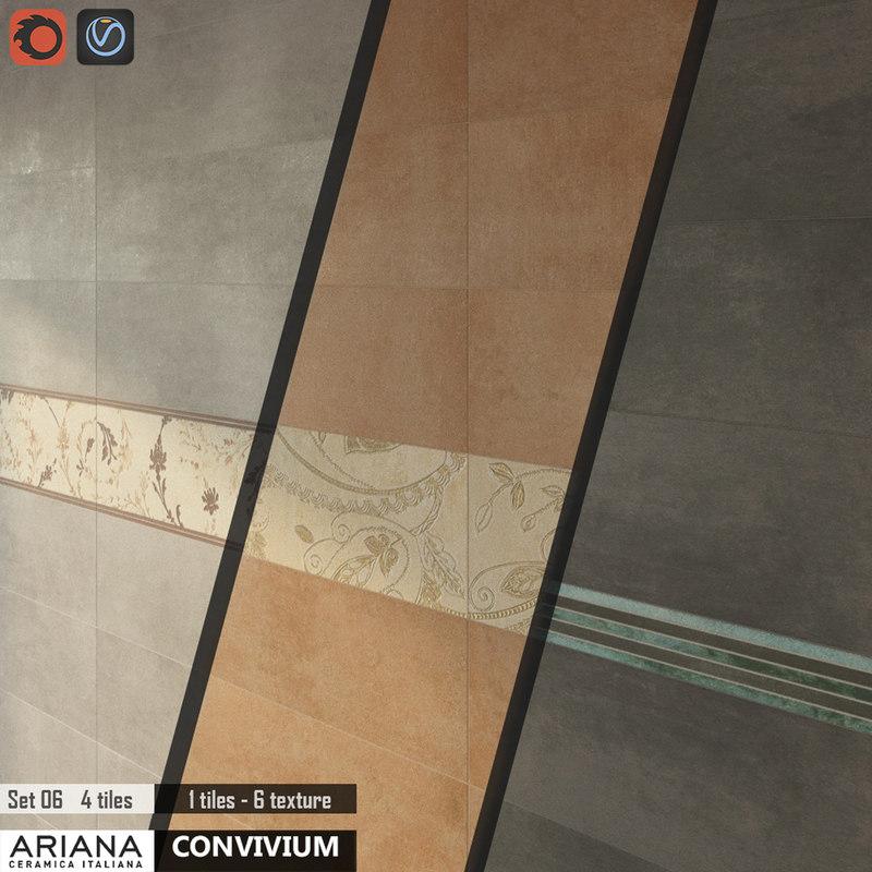 tile ariana convivium set 3d model