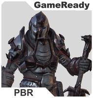 knight pbr 3d model