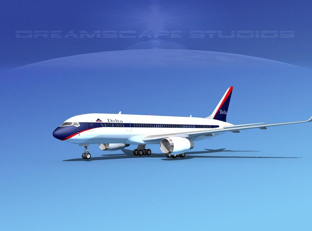 airline boeing 787-8 787 3d model
