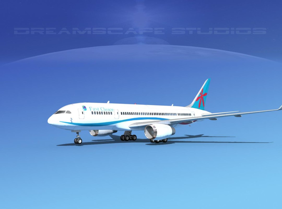 airline boeing 787-8 787 3d model