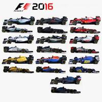3d model formula 1 cars 2016