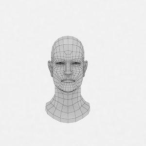 3d head base mesh model