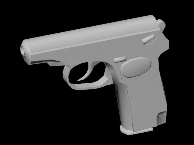 pm makarov pistol obj