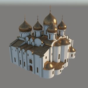 sophia cathedral novgorod 3d model