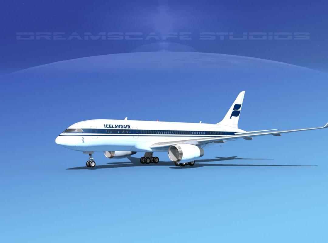 airline boeing 787 787-8 3d model