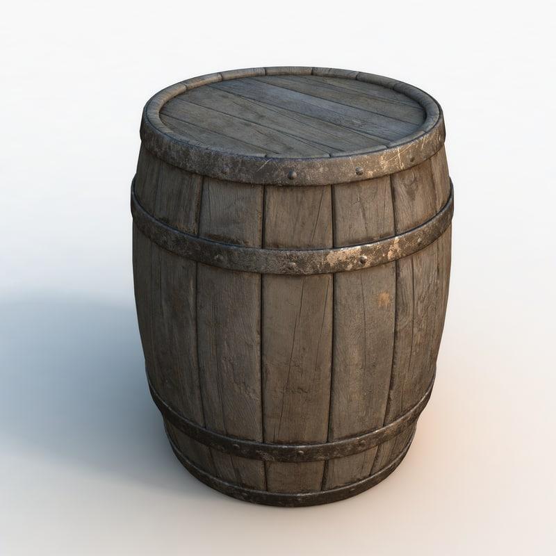 barrel polys 3d max