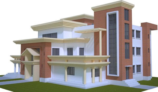 3d model of realistic house