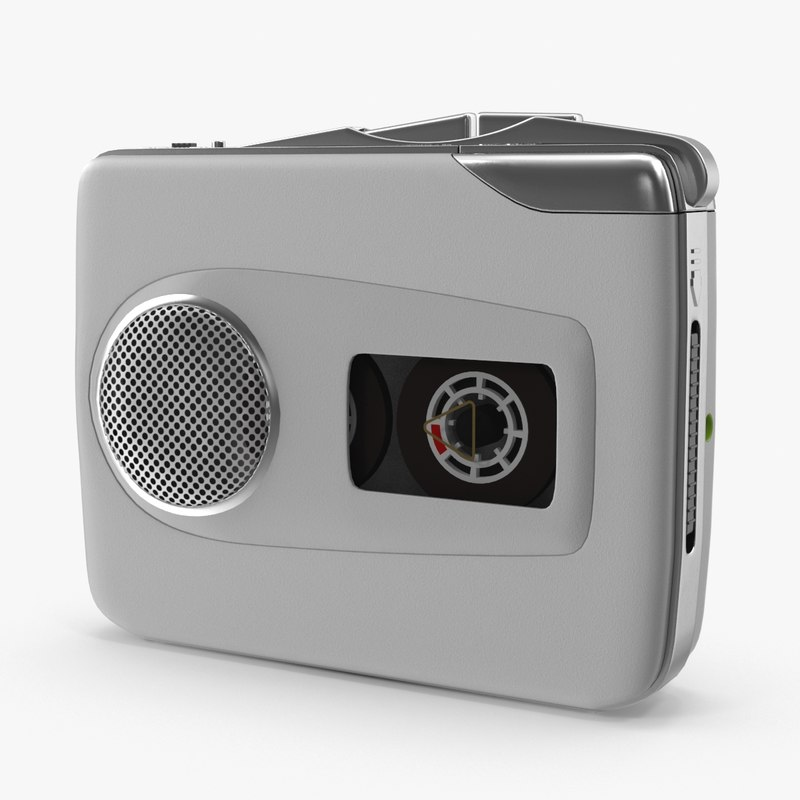 3d portable cassette player model