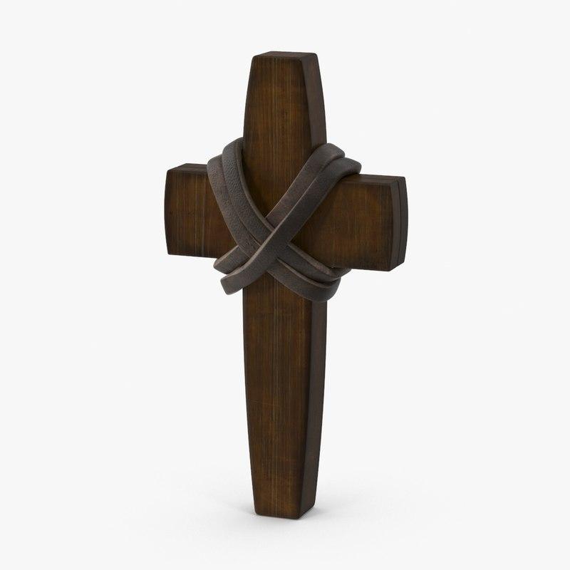 3d wooden cross 03