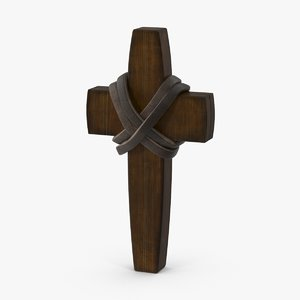 3d wooden cross 03