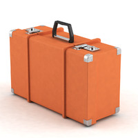 3d old suitcase