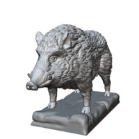 boar sculpture obj
