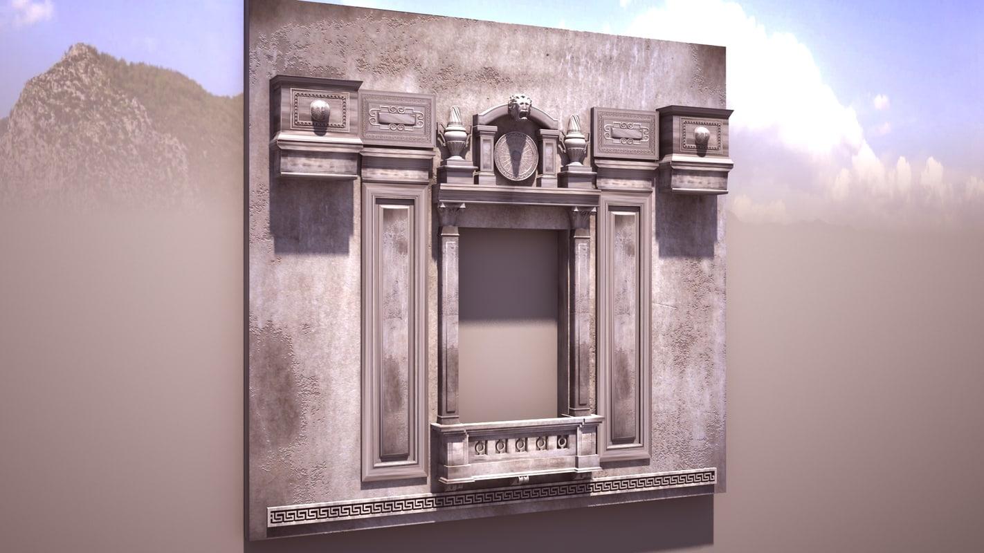 classic window architecture 3d model