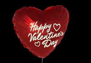 heart balloon happy valentines 3d 3ds