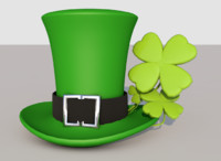 saint patricks day hat c4d