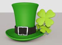 saint patricks day hat c4d
