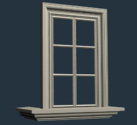 3d model window exterior interior