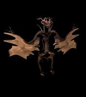 alien butterfly 3d obj