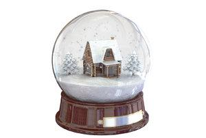 3d model snowglobe