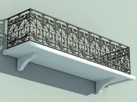 architectural balcony 3d max