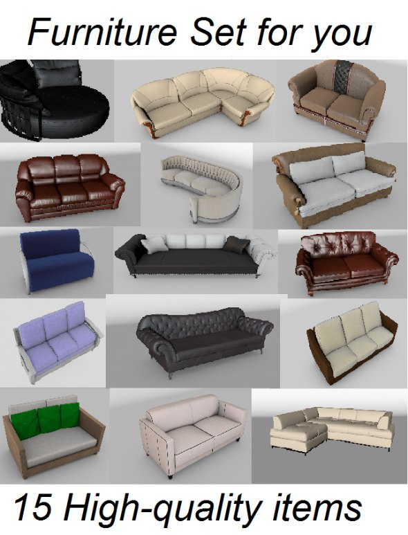 set furniture 3d model