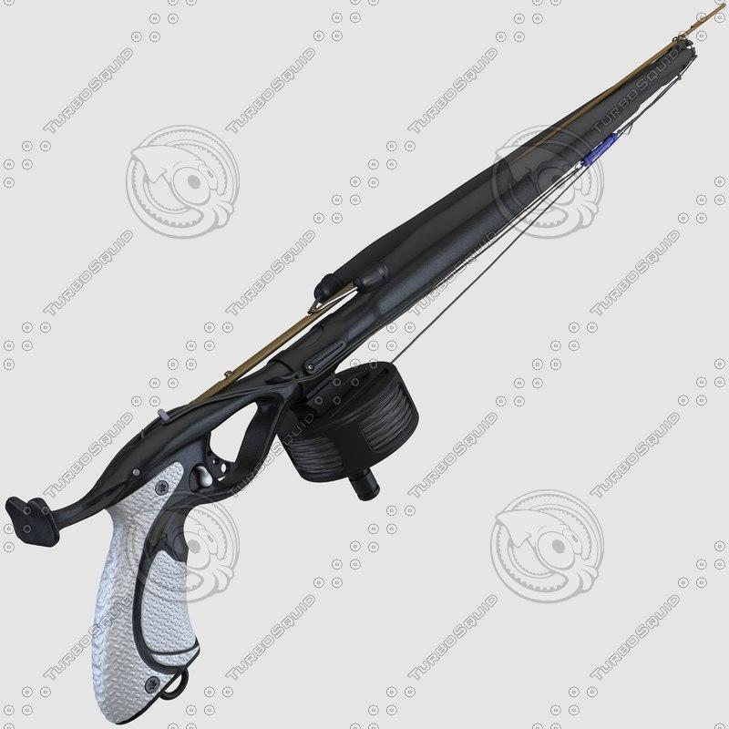 speargun scuba gun c4d