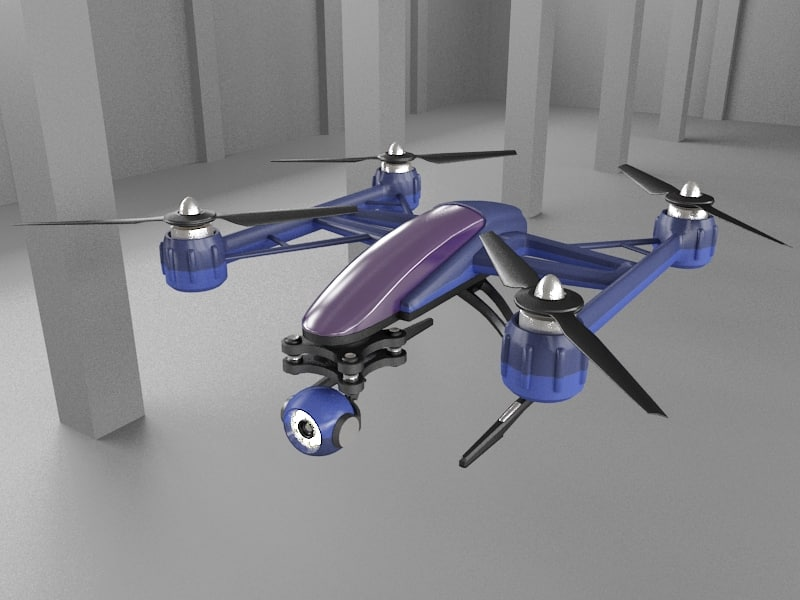 3d 3ds drone quadcopter f0817