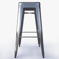 3d tolix bar stool model