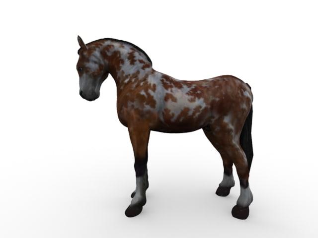 3d max horse