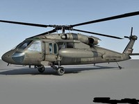 uh-60 blackhawk helicopter 3d max