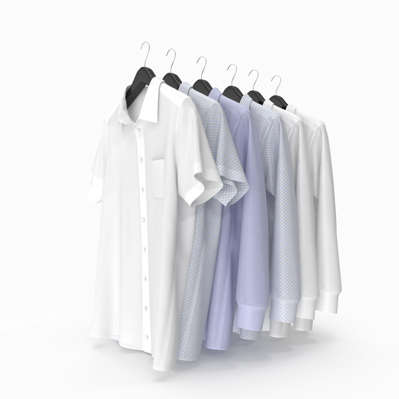 shirts hanger 3d model