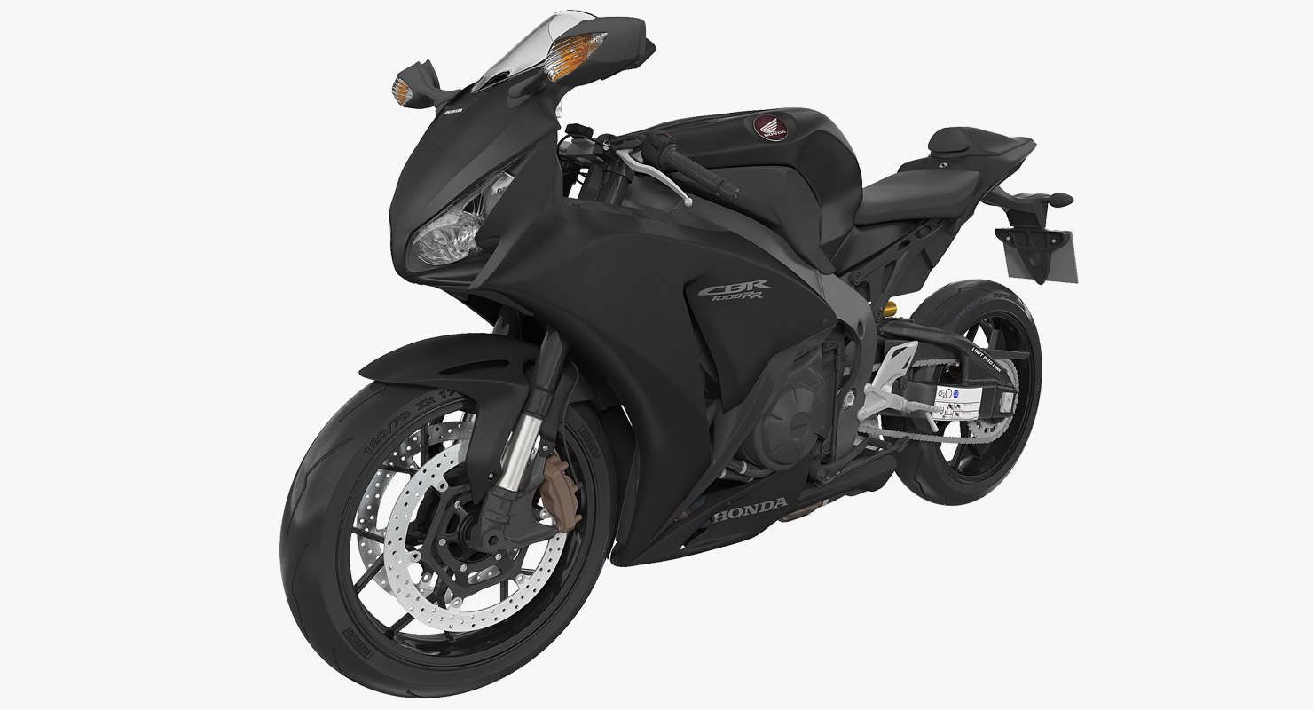 Sport Motorcycles Honda Fireblade 2017 3D Model