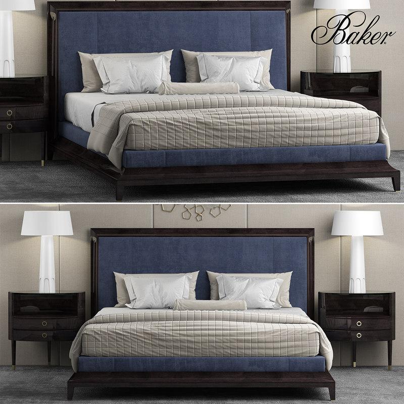 3d model moderne platform bed