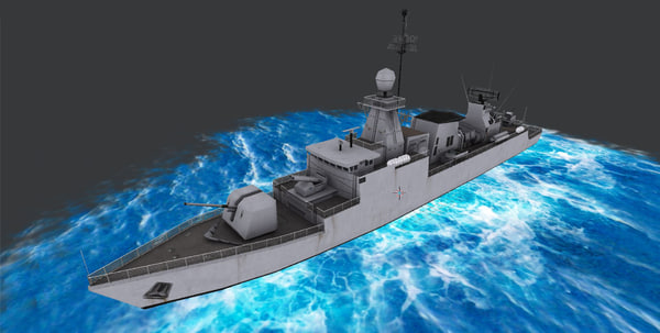 3d corvette class warship