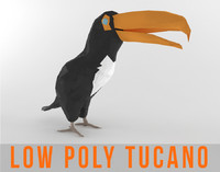 Tucano Bird Low Poly Tropical Toucan Animal Lowpoly