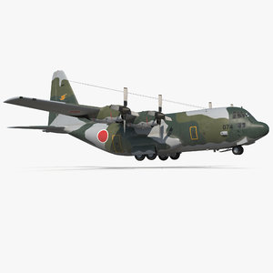 lockheed hercules l-382 japan 3d 3ds