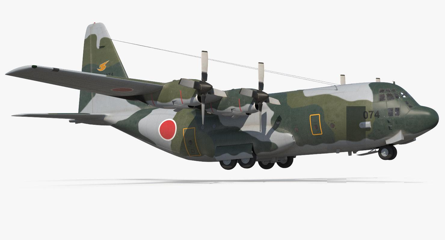 lockheed hercules l-382 japan 3d 3ds
