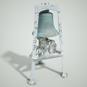 3d model of industrial bell tower