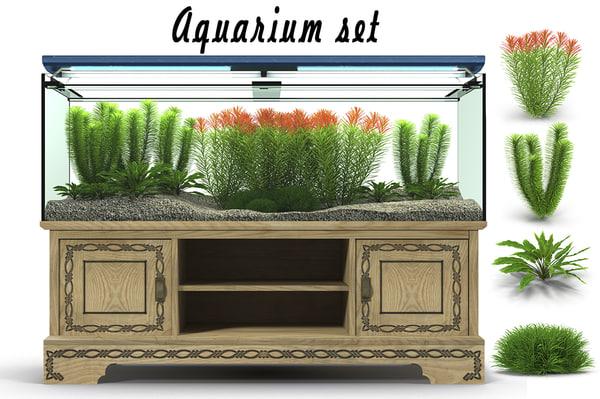 aquarium set 3d model