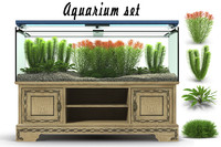 aquarium set 3d model
