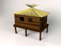 wooden cabine 3d max