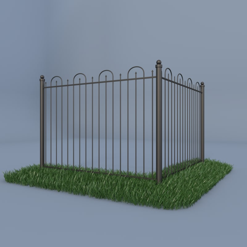 3d model of iron fence
