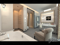 3d bathroom scene model