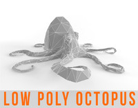 Octopus Low Poly Squid Lowpoly Kraken Tentacle Seamonster