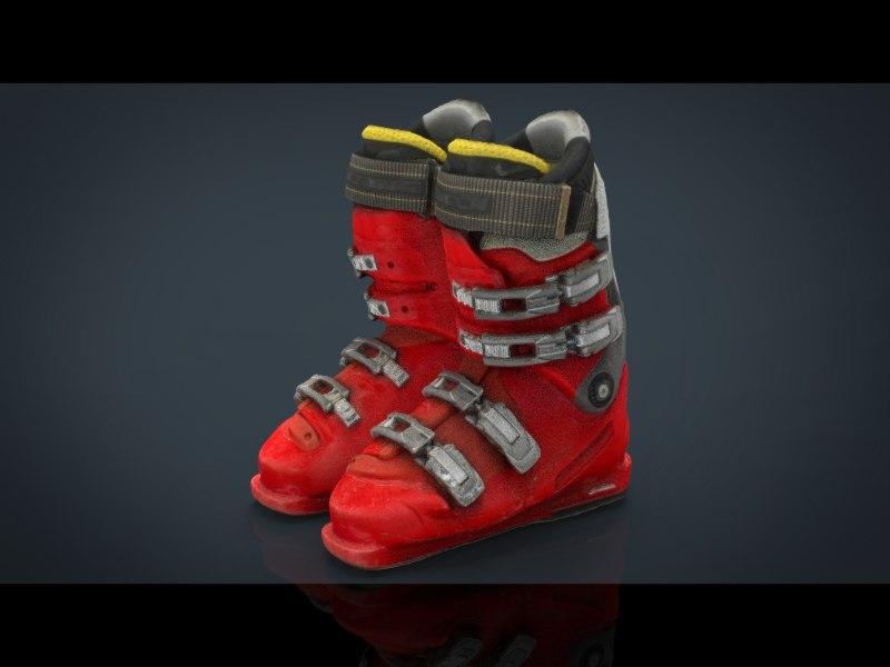 ski boots obj